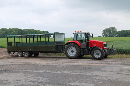 tractor trailer: A Tractor Trailer for Transporting People around a Farm.