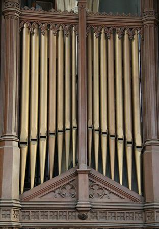 choral: The Metal Pipes of a Church Music Organ.