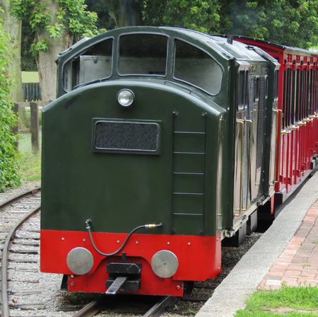narrow gauge railway: The Engine and Carriages of a Narrow Gauge Railway.