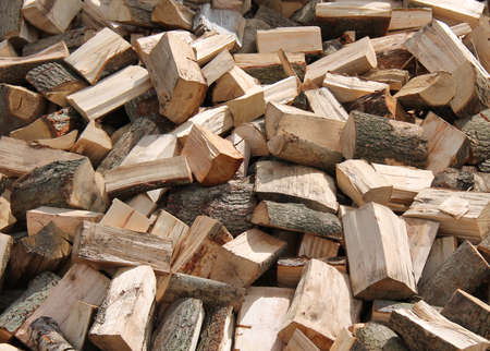 pile of logs: A Pile of Freshly Cut Firewood Logs.