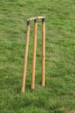 bails: A Classic Set of Vintage Cricket Stumps and Bails.