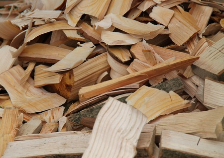 off cuts: A Joiners Pile of Wood Shavings and Off Cuts.
