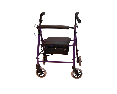 infirm: A Walking Frame Combined with a Seat on Wheels.