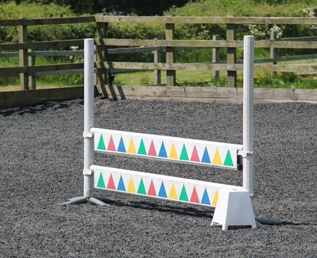 horse jump: A Basic Horse Jump on a Stables Training Ground.