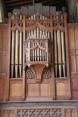 choral: The Pipes of a Classic Church Music Organ.