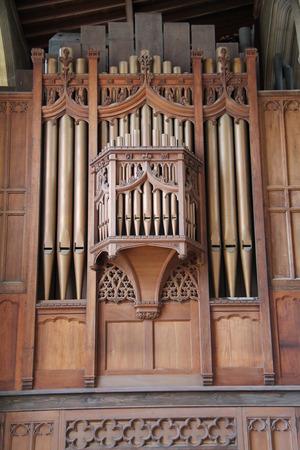 choral: The Pipes of a Classic Church Music Organ.