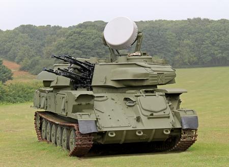 controlled: A Radar Controlled Anti Aircraft Mobile Gun System.