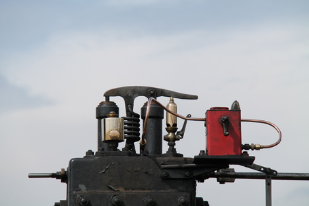 steam traction: A Safety Valve and Whistle on a Steam Traction Engine.