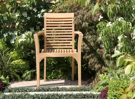 A Wooden Chair for Relaxing in the Garden.