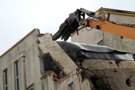ある建物解体グラブの頭。 写真素材
