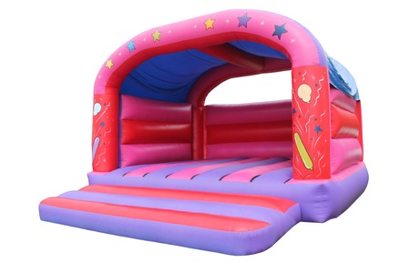 A Large Inflatable Bouncy Castle Childrens Play Area.
