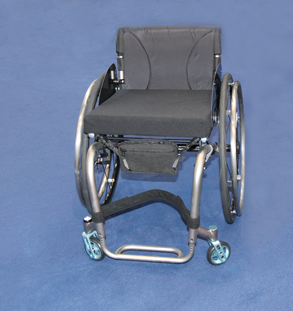 A Lightweight Four Wheeled Manual Disability Wheelchair.
