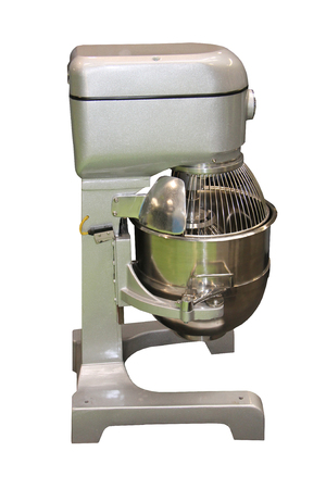 A Commercial Kitchen Industrial Mixing Machine and Bowl.