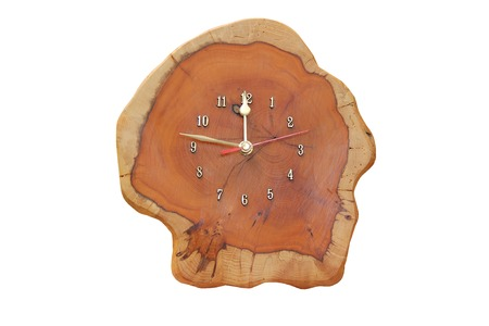 A Lovely Craft Made Wooden Carved Analogue Clock.