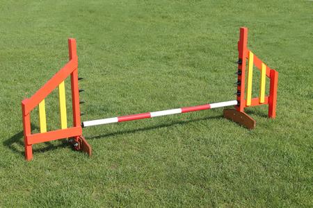 A Jump Obstacle on a Dog Agility Training Course.