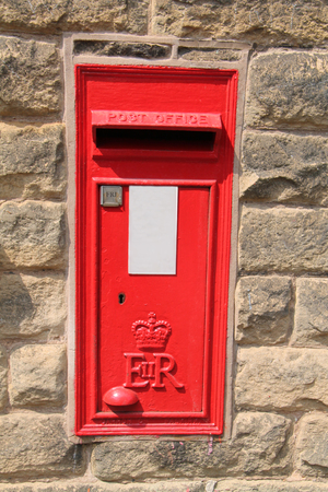 A Vintage Wall Mounted British Red Post Letter Box.