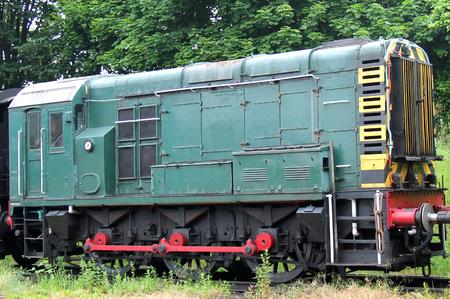 An Old Vintage Diesel Shunting Railway Train Engine.