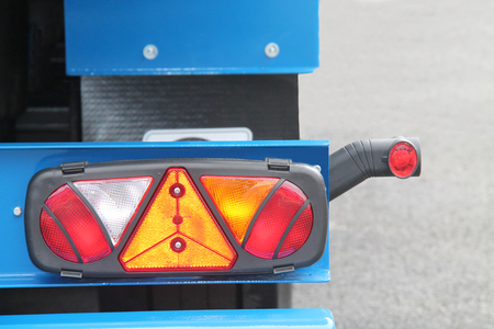 A Rear Light Cluster of a Large Lorry Truck. Stock fotó