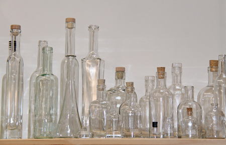 A Selection of Assorted Glass Storage Bottles and Jars.