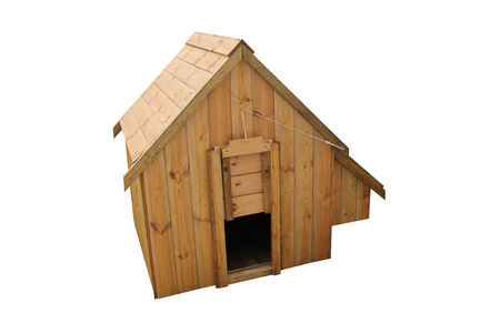 A Wooden Chicken House with Nest Box for Nine Birds.