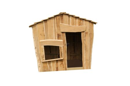 An Unusual Shaped Childrens Wooden Play Shelter.