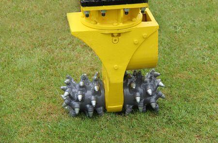 A Hydraulic Rock Cutting Drum for Excavator Work.