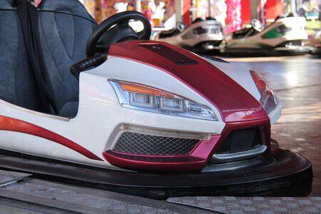 A Dodgem Riding Car on a Fun Fair Amusement Ride.
