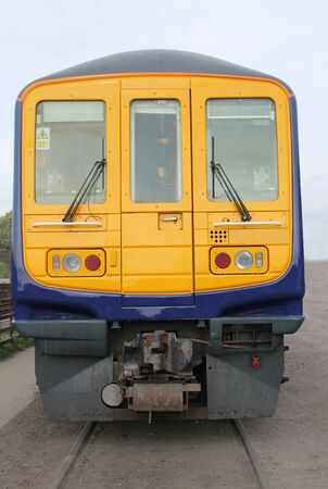 The Front of a Modern Diesel Electric Railway Train. 免版税图像 - 133270846