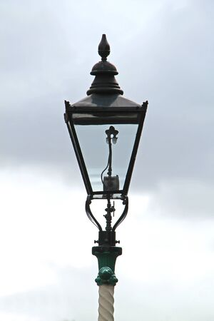 A Gas Powered Vintage Railway Platform Lamp Light.