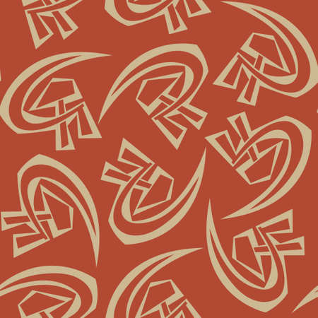 hammer and sickle: Soviet symbols of hammer and sickle vector seamless pattern Illustration