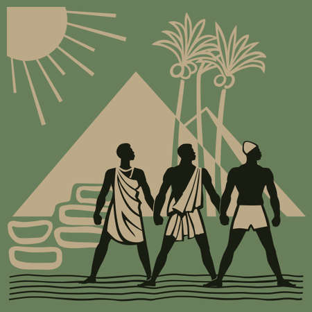 african tribe: African nations unite to liberate their land from colonialists vector illustration