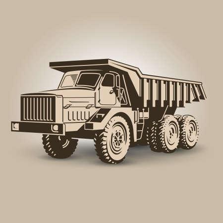 The most biggest tip truck illustration Vector