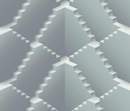 現実的な無限階段工事ベクターのシームレスなパターン  イラスト・ベクター素材