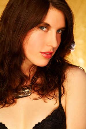 Pretty young brunette model pose Stock Photo - 341360
