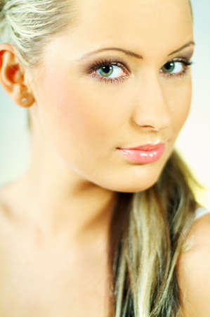 Portrait of attractive beautiful young woman