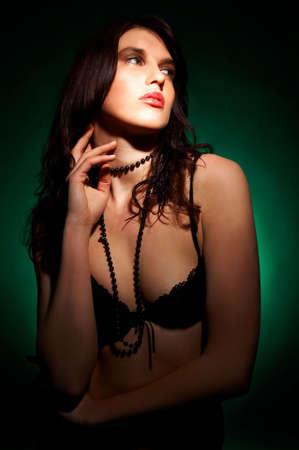 Pretty young brunette model pose Stock Photo