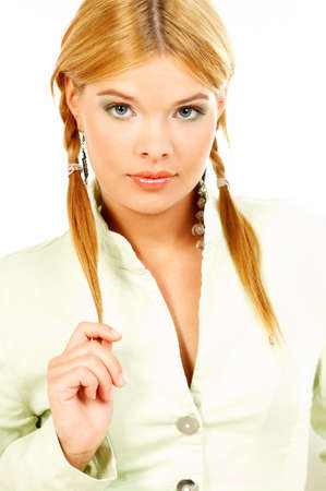 Portrait of attractive beautiful young woman Stock Photo - 409114