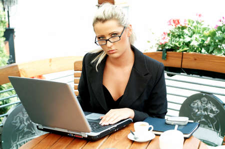 Business women working with laptop computer Stock Photo - 446635