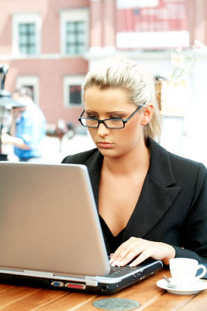 Business women working with laptop computer Stock Photo - 446632