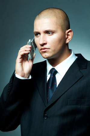 A Young businessman using cell phone Stock Photo - 495014