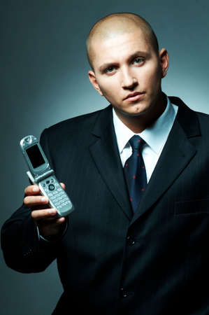 A Young businessman using cell phone Stock Photo - 495049