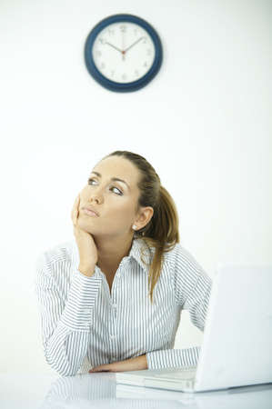 businesswear: Beautiful business woman during daily office routines Stock Photo