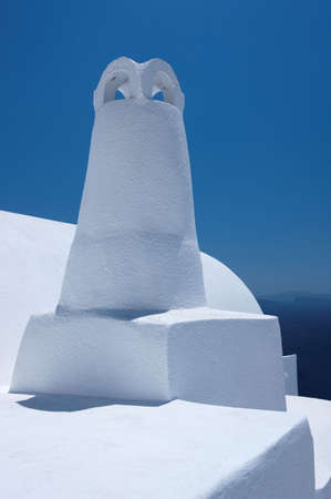 ios: Wonderful view of City buildings and bay on Santorini, Greece