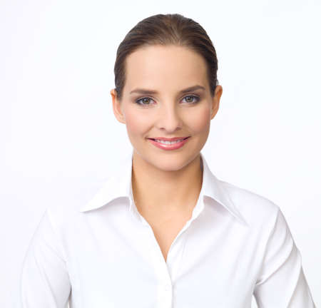 Portrait of beautiful and young business woman