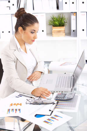 Business woman working in office Stock Photo - 3898835
