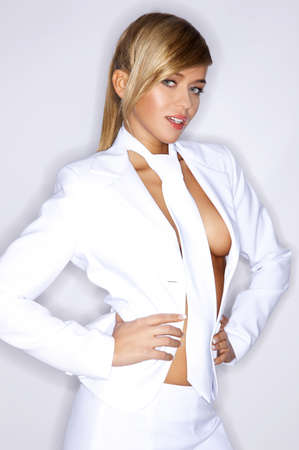 Sexy white suit