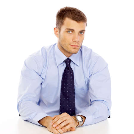 Portrait of business man isolated on white background Stock Photo - 4752592