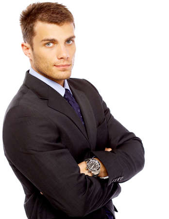 Portrait of business man isolated on white background Stock Photo - 4752609