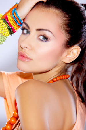 Portrait of beautiful and sexy fashion woman