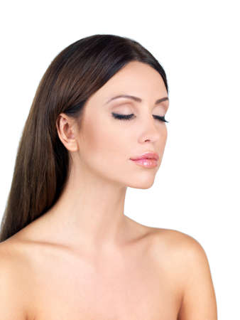 Portrait of beautiful woman with eyes closed Stock Photo - 7790667